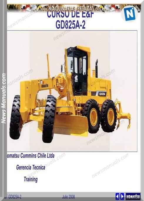 Komatsu Grader Gd825A 2 Full Course Maintenance Manual