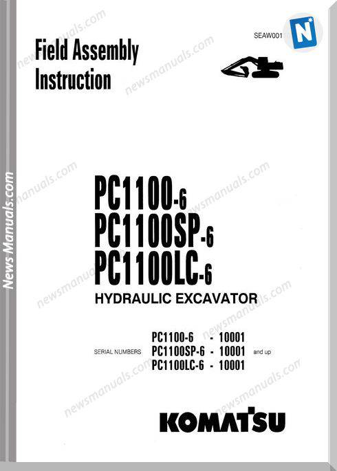 Komatsu Hydraulic Excavator Pc1100 6 Shop Manual