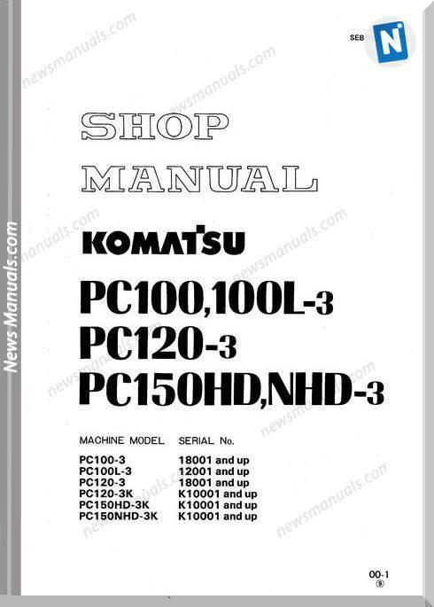 Komatsu Pc100 120 150Hd 3 Shop Manual