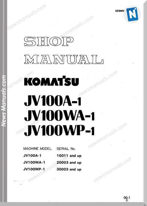 Komatsu Roler Jv100Wp-1 Workshop Manuals