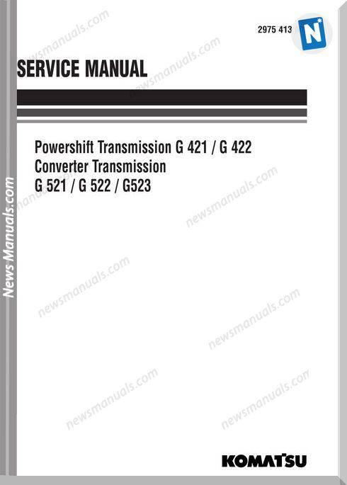 Komatsu Transmission G523 Service Manual