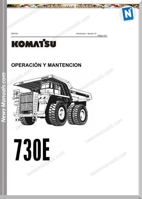 Komatsu Truck 730E Operation Maintenance
