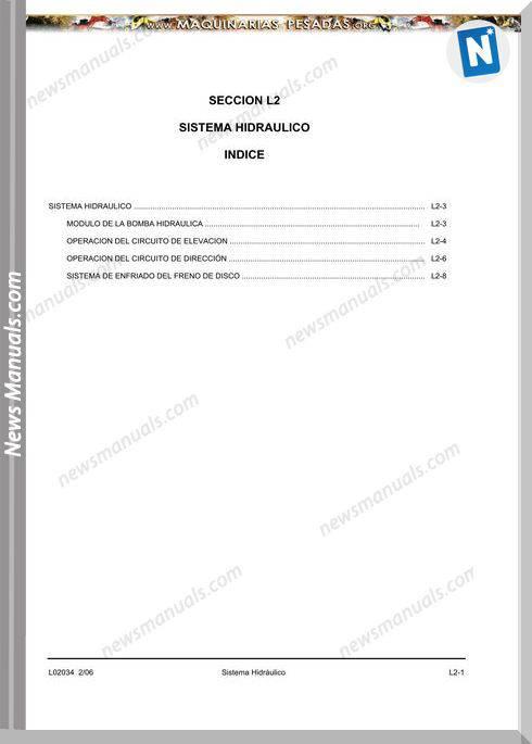 Komatsu Truck 930E4 Hydraulic System Manual