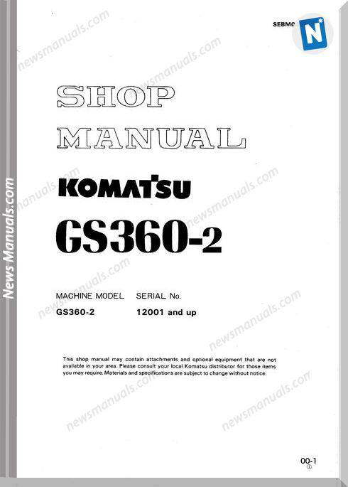 Komatsu Wheel Stabilizer Gs360-2 Workshop Manuals