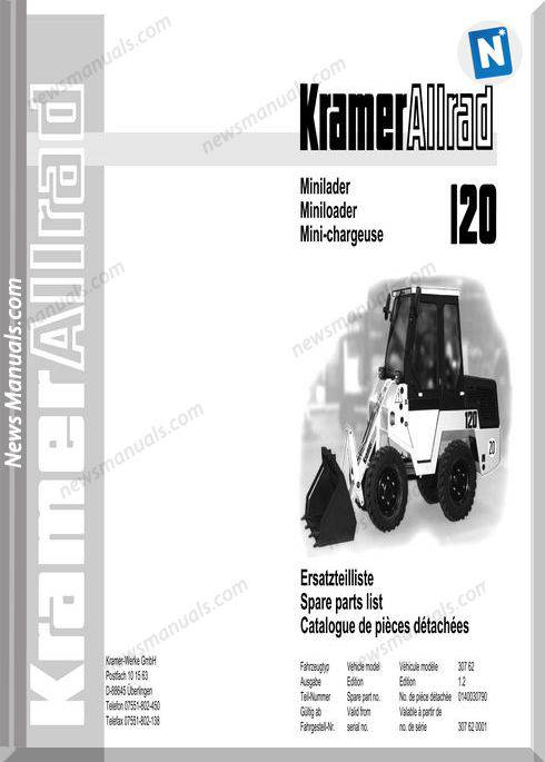 Kramer 120 Serie 1 Spare Parts