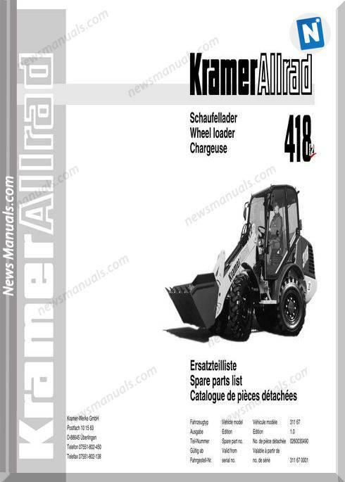 Kramer 418 Serie2 Spare Parts
