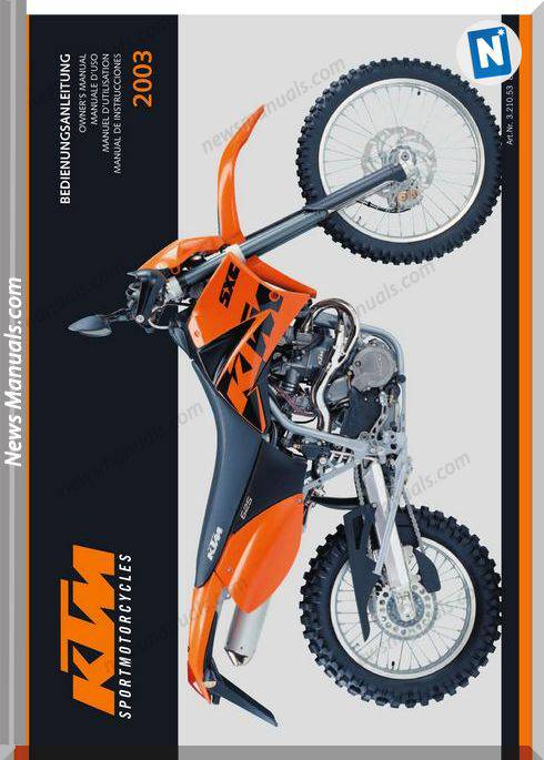 Ktm 625Lc4 2003 Owners Manual