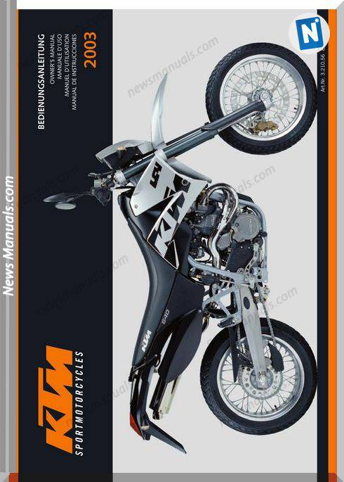 Ktm 640lc4 2003 Owners Manual
