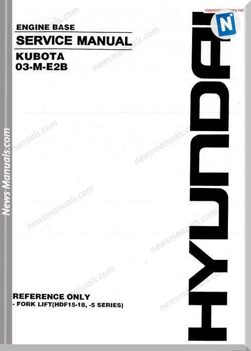 Kubota 03 M E2B Service Manual