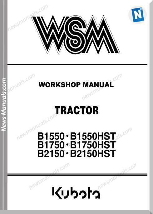 Kubota B1550 2750 Series Workshop Manual