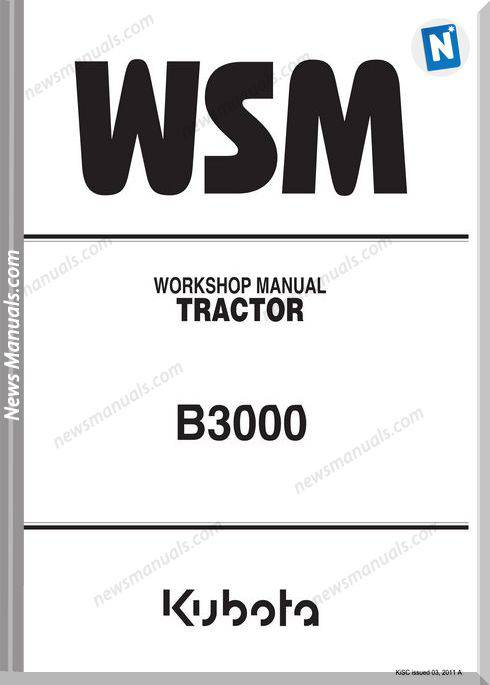 Kubota B3000 Models Series Workshop Manual