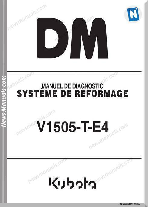 Kubota B3350 French Series Workshop Manual