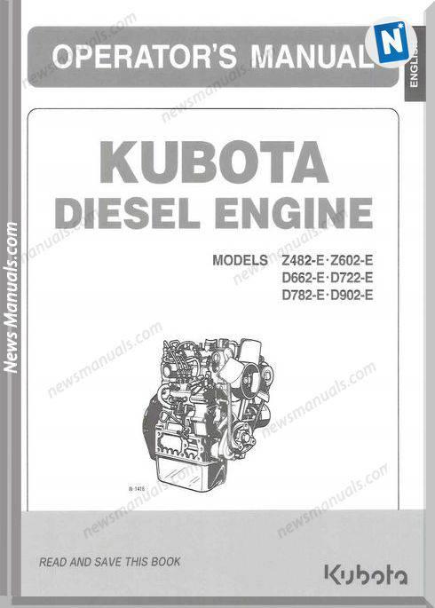 Kubota D902 Engine Workshop Manual