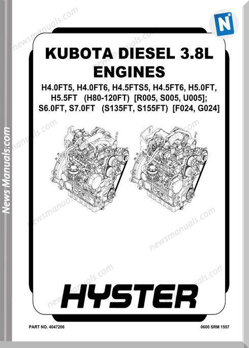 Kubota Diesel 3.8L Engines Service Manual