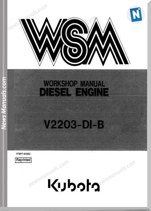 Kubota Diesel Engine Work V2203Dib