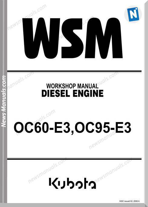 Kubota Engine Oc60-E3, Oc95E3 Workshop Manual