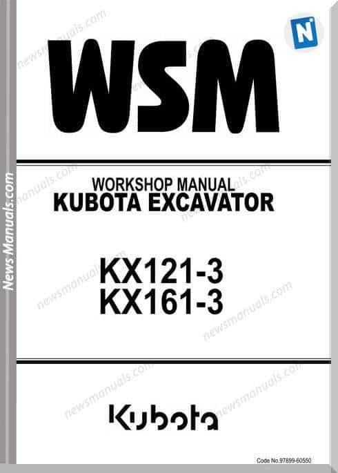 Kubota Excavator Kx121-3 Kx161-3 Workshop Manual