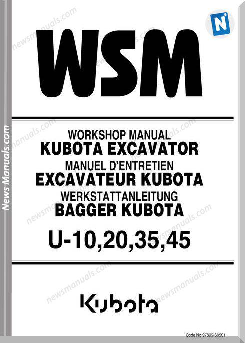 Kubota Excavator U10203545 Workshop Manual