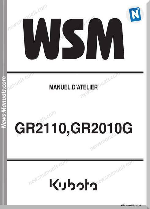 Kubota Gr2110 Series Workshop Manual