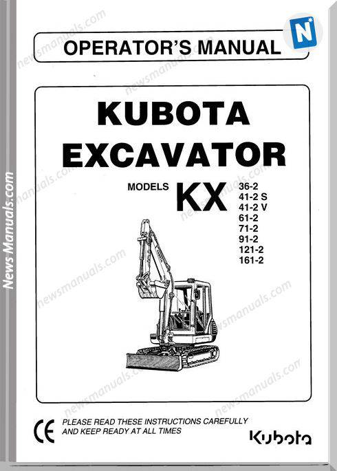 Kubota Kx 36 161 Operators Manual Sec Wat