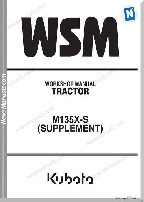 Kubota M135X-S Supplement Anglais Workshop Manual