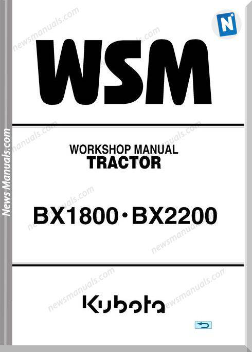 Kubota Serie Bx1800 Bx2200 E Workshop Manual