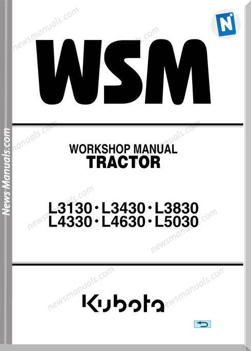Kubota Series L3130-5030 E Workshop Manual