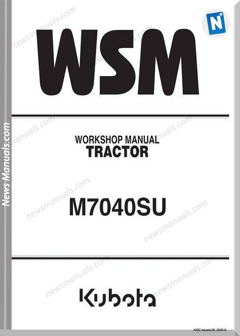 Kubota Series M7040Su Anglais Workshop Manual
