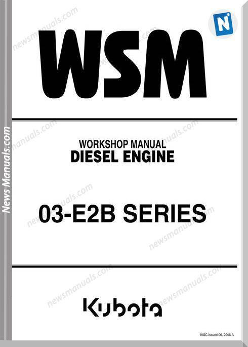 Kubota V2203 Workshop Manual