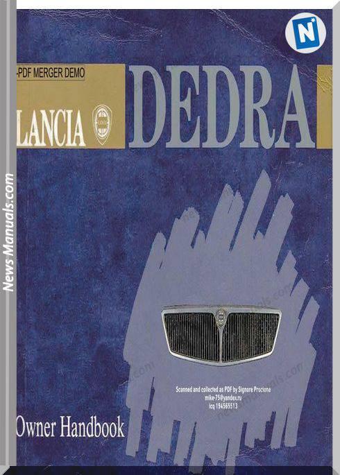 Lancia Dedra Owners Handbook