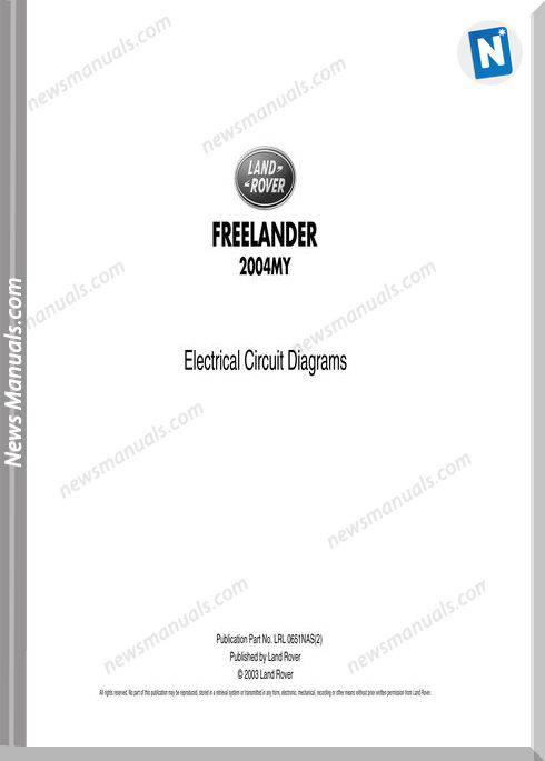 Land Rover Freelander 2004 L314 Nas Wiring Diagram
