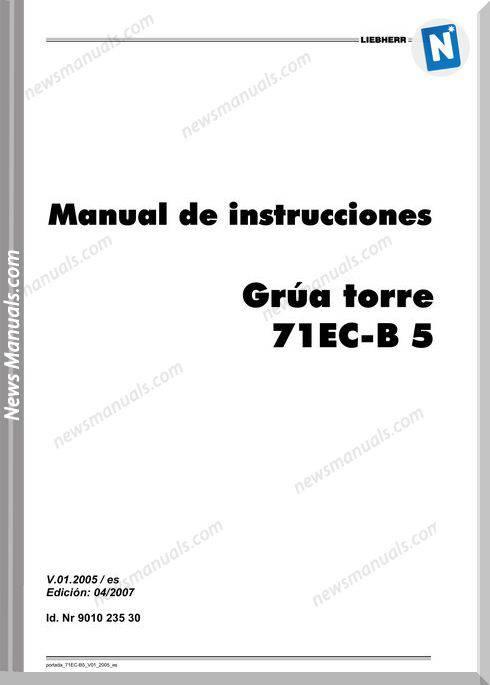Liebherr 71Ec B5 Operating Instructions