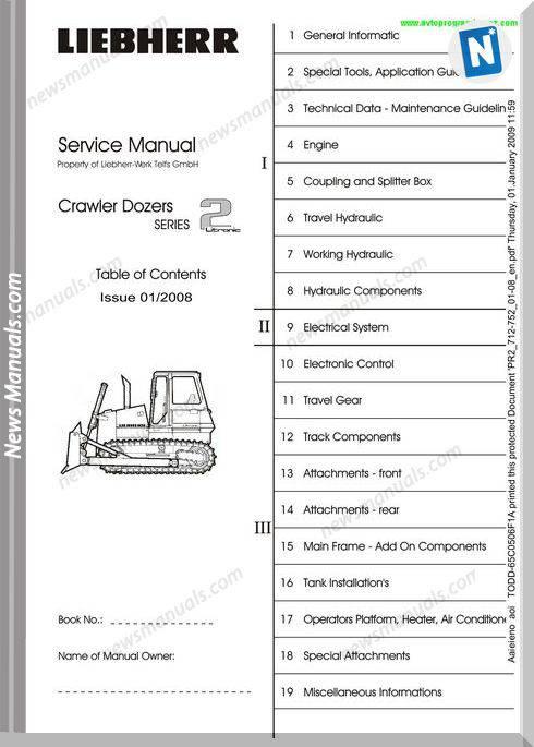 Liebherr Crawler Dozers Pr712-Pr752-Service Manual