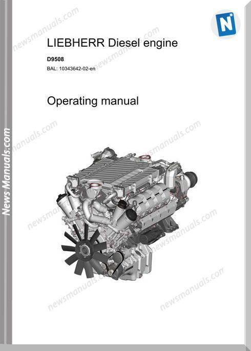 Liebherr D9508 Diesel Engine Operators Manual