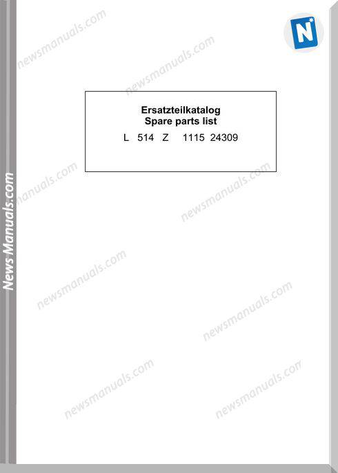 Liebherr L514 Spare Parts