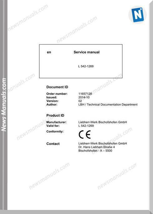 Liebherr L542 1269 Service Manual