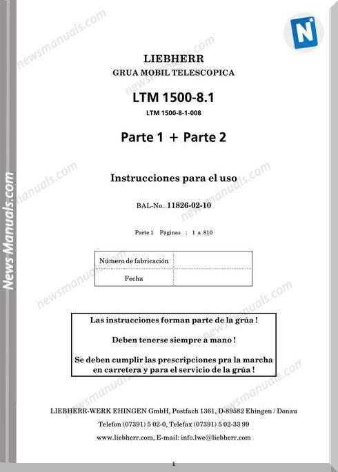 Liebherr Ltm 11500 8 1 Instruction Manual