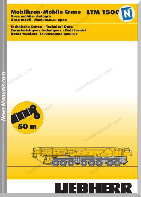 Liebherr Ltm1500 8 1 Part Catalogue