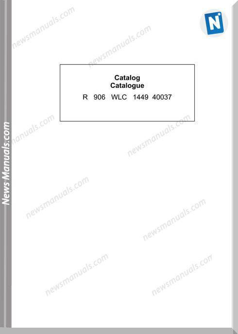 Liebherr R096 Wlc Models Parts Manual