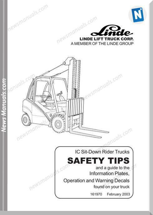 Linde 353 02D H50 Through H80 900 0303 Us 353 02 0702 Operator Manual