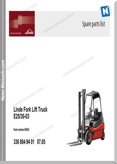 Linde Parts Manual 336 03 Ac 2005 07 En