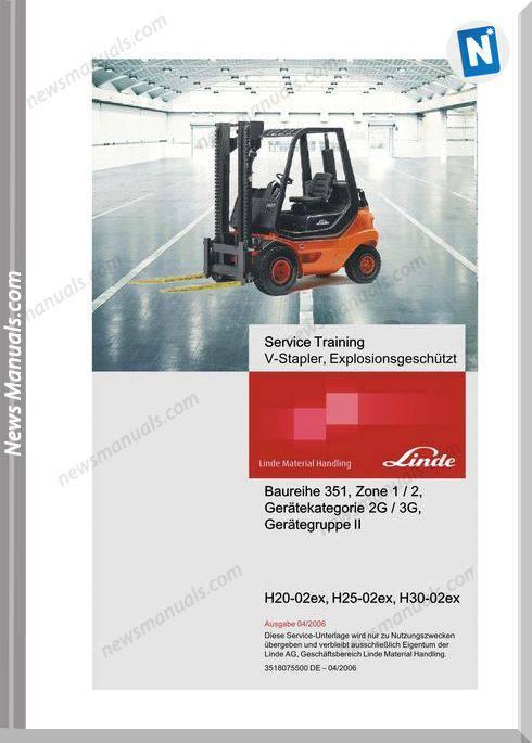 Linde V-Stapler H20-02Ex, H25-02Ex, H30-02Ex Service Training +Application Wiring Plan