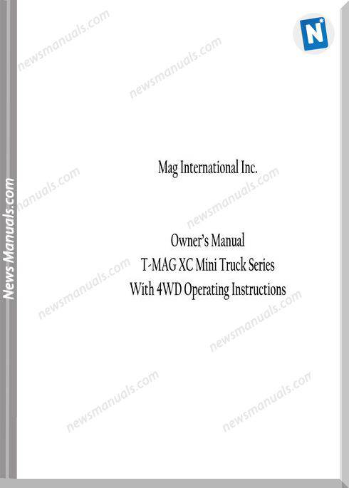 Mag International Xc Mini Truck Series Owners Manual