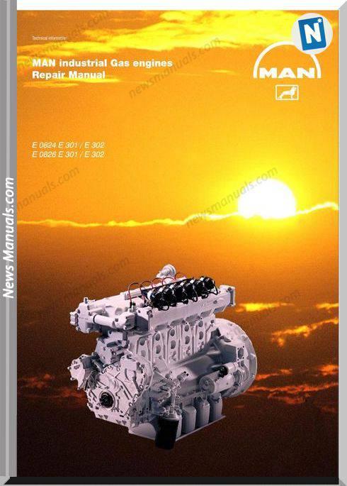 Man Gas Engines 0824 301 302 0826 301 302 Repair Manual