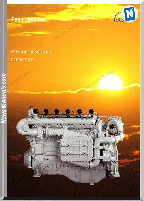 Man Industrial Gas Engines E 2876 Le 302 Repair Manual