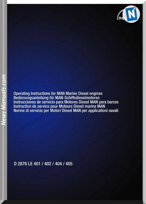 Man Marine Diesel Engines D 2876 Le 401 402 404 405 Maintenance Manual