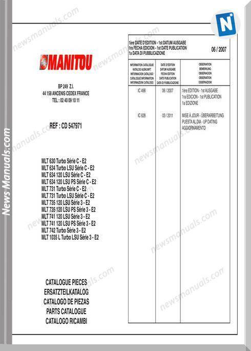 Manitou Cpcd 547971 Part Cataloge