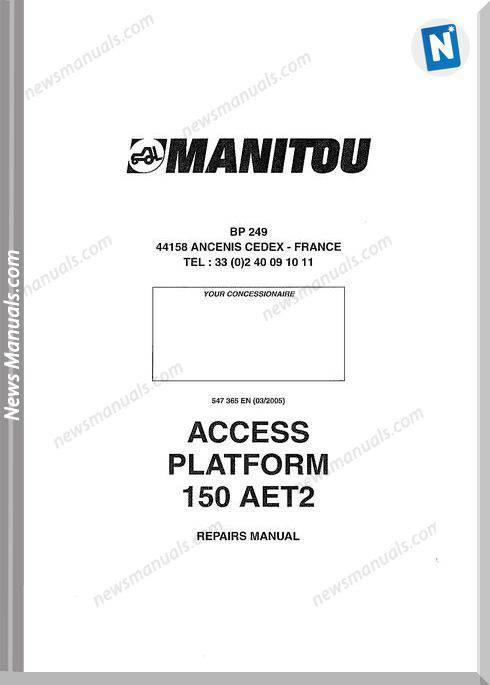 Manitou Forklift Access-Platform-150-Aet2 Parts Manual