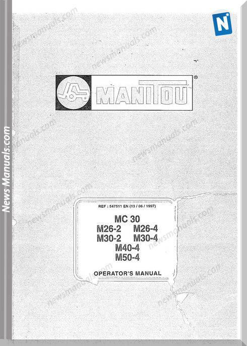 Manitou Forklift M26-50-4 547511En Parts Manual
