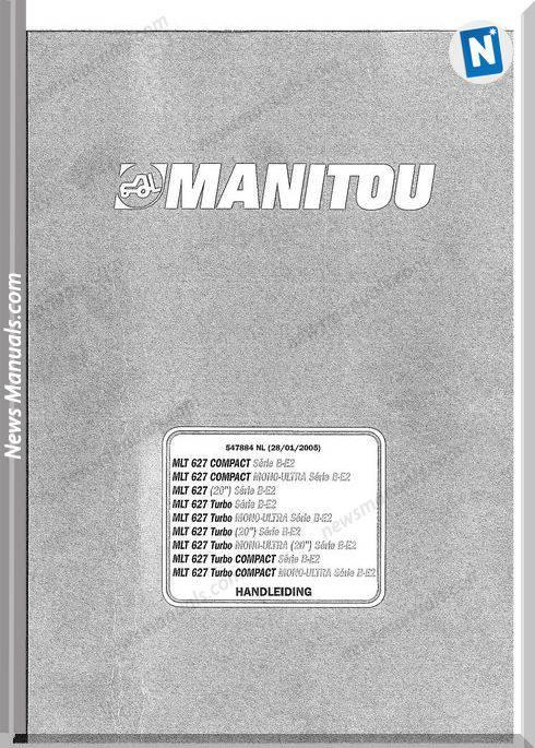 Manitou Forklift Mlt627 547884Nl Models Parts Manual